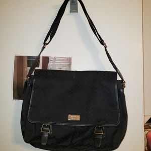 Black Coach messenger bag.